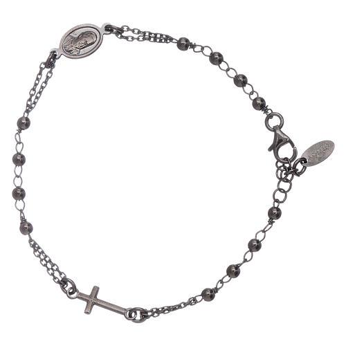 Bracciale rosario arg 925 brunito 2