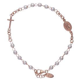 Bracciale rosario perle arg 925 rosè s2