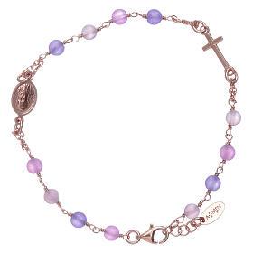 Bracciale rosario arg 925 AMEN giada colorata s2