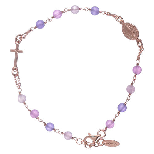 Bracciale rosario arg 925 AMEN giada colorata 1