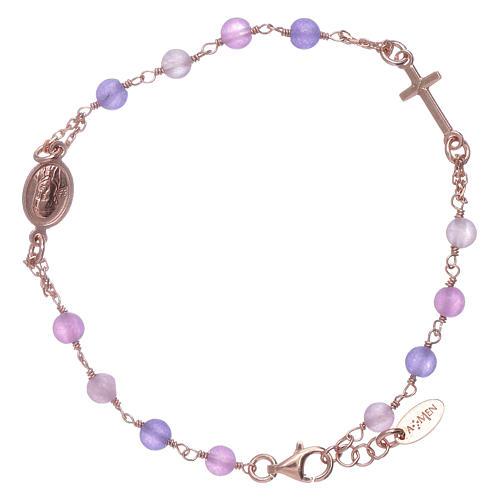 Bracciale rosario arg 925 AMEN giada colorata 2