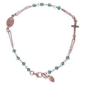 Pulsera rosario plata 925 AMEN cruz pavé y cristales s2
