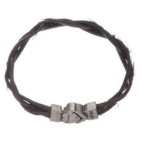 AMEN bracelets: AMEN leather and bronze bracelet
