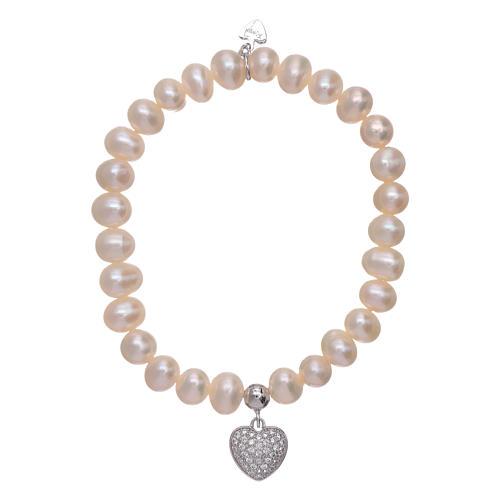 c724cf6337f Bracelet coeur pendentif AMEN argent 925 et zircons 1