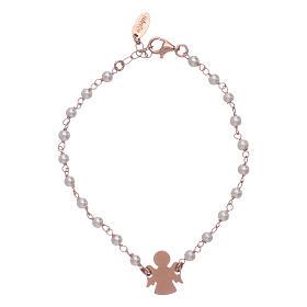 AMEN bracelets: AMEN 925 sterling silver bracelet with a little angel insert and pearls