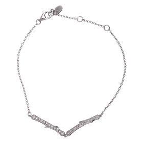AMEN bracelets: AMEN 925 sterling silver bracelet with a white zircon insert