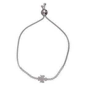 AMEN bracelets: AMEN 925 sterling silver bracelet with a white zircon angel insert