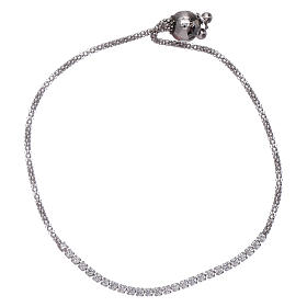 AMEN bracelets: AMEN rosè 925 sterling silver bracelet with white zircons