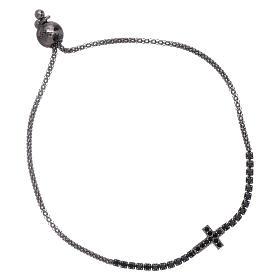 AMEN bracelets: AMEN rosè 925 sterling silver bracelet with a white zircon cross