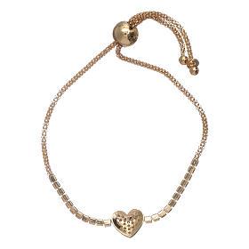 Bracciale arg 925 dorato AMEN cuore zirconi bianchi s2