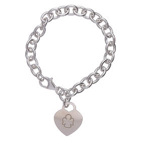 AMEN 925 sterling silver bracelet with a pendant heart s1