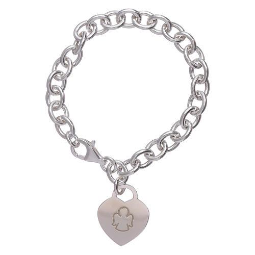 AMEN 925 sterling silver bracelet with a pendant heart 1