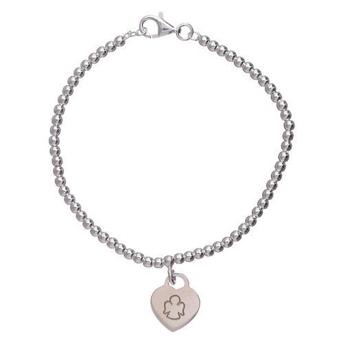 a038b3a382c Bracelet AMEN coeur pendentif argent 925 rhodié 1