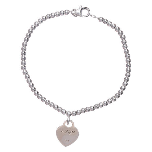 2d6069e708c Bracelet AMEN coeur pendentif argent 925 rhodié 2