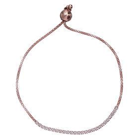 Bracciale arg 925 AMEN rosè e cristalli bianchi s1