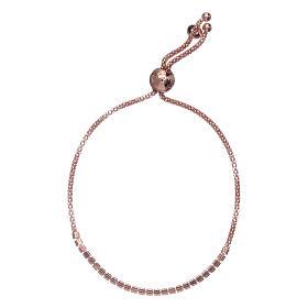 Bracciale arg 925 AMEN rosè e cristalli bianchi s2