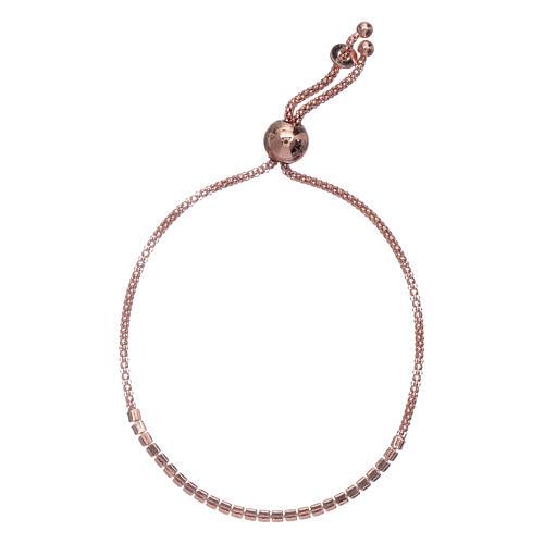 Bracciale arg 925 AMEN rosè e cristalli bianchi 2