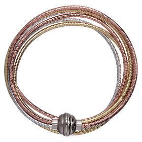AMEN golden colour bracelet in rosè and silver s1