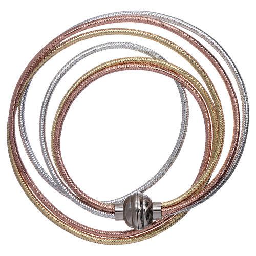 Bracciale AMEN lurex colore oro, rosè e argento 2