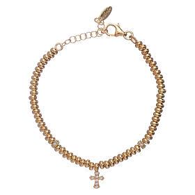 AMEN bracelets: AMEN golden 925 sterling silver bracelet with a cross