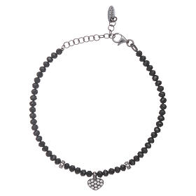AMEN bracelets: AMEN 925 sterling silver bracelet  with black crystals and a zirconate cross