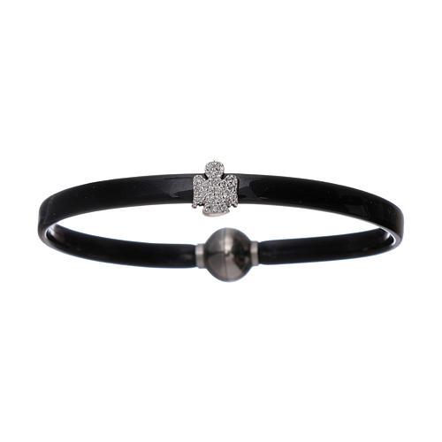 AMEN thermoplastic 925 sterling silver bracelet with a zirconate angel insert 1