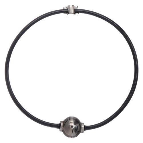 AMEN thermoplastic 925 sterling silver bracelet with a zirconate angel insert 2