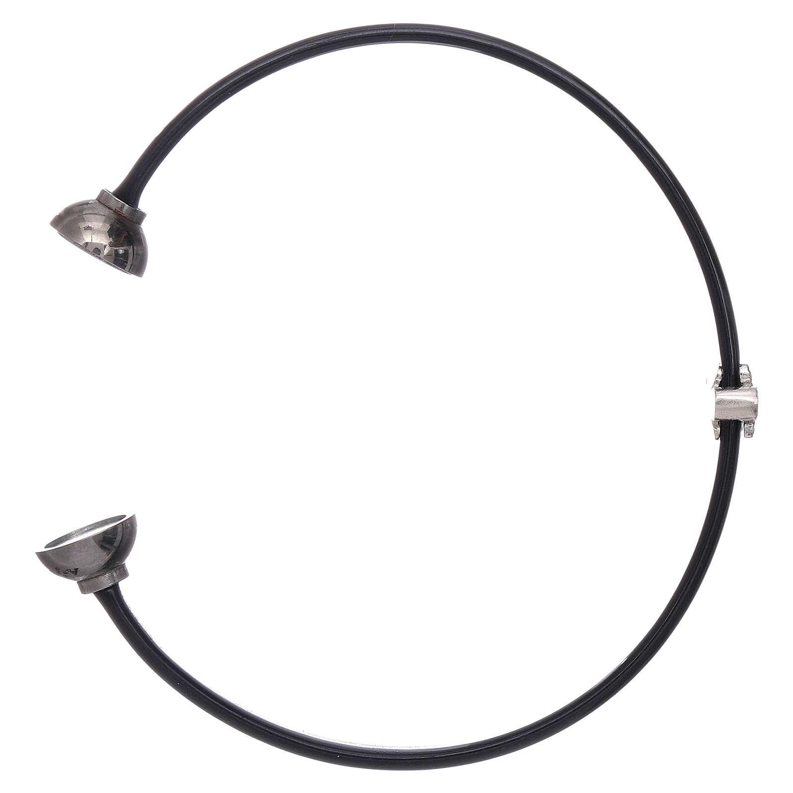 Bracciale termoplastica e angioletto zirconato arg 925 AMEN 4