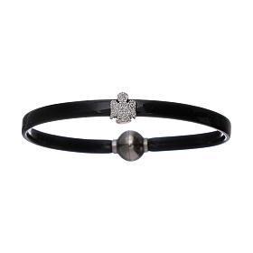 AMEN bracelets: AMEN thermoplastic 925 sterling silver bracelet with a zirconate angel insert