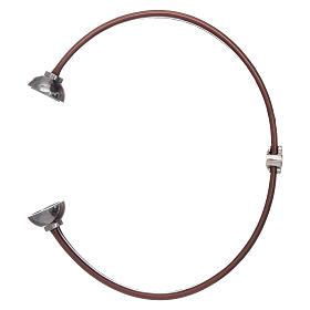 Bracelet thermoplastique marron ange zircons argent 925 AMEN s3