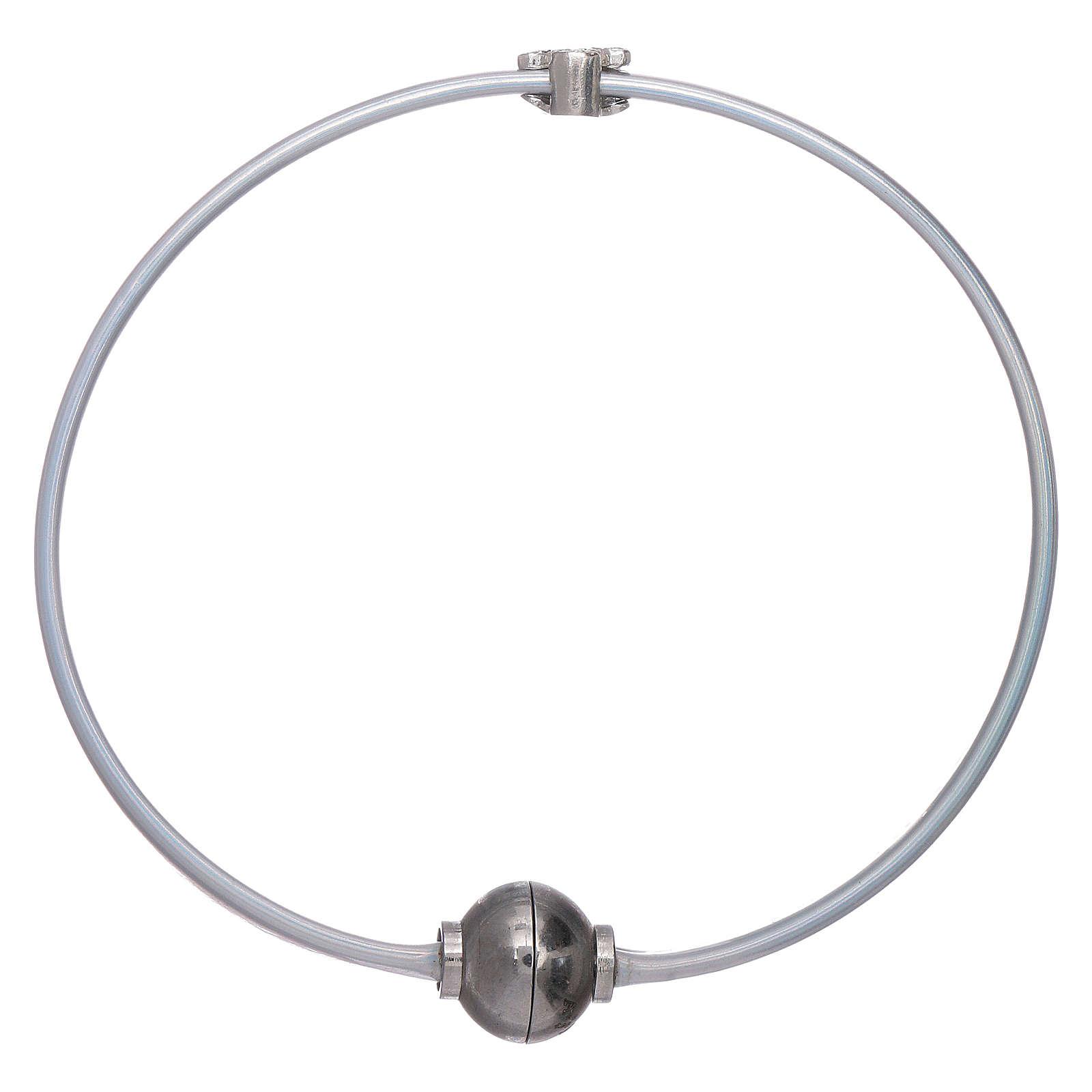 Bracciale angioletto zirconato arg 925 AMEN termoplastica grigio 4