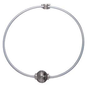 Bracciale angioletto zirconato arg 925 AMEN termoplastica grigio s2