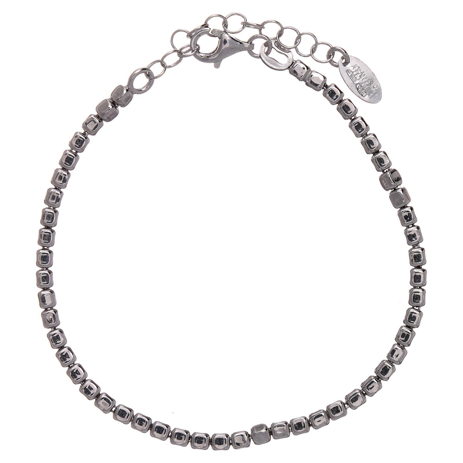 Bracciale AMEN in argento 925 rodiato pepite 4