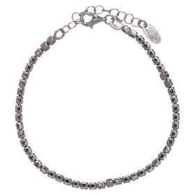 Bracciale AMEN in argento 925 rodiato pepite s1