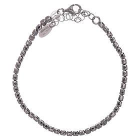 Bracciale AMEN in argento 925 rodiato pepite s2