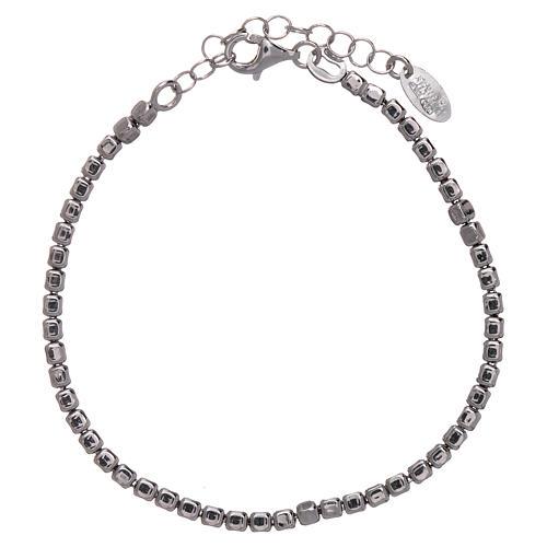 Bracciale AMEN in argento 925 rodiato pepite 1