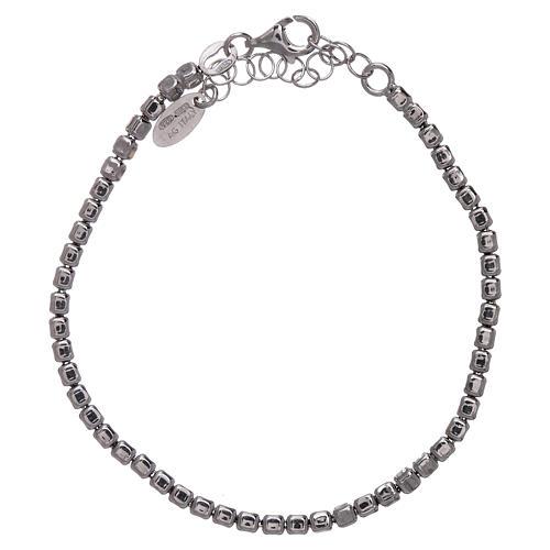 Bracciale AMEN in argento 925 rodiato pepite 2
