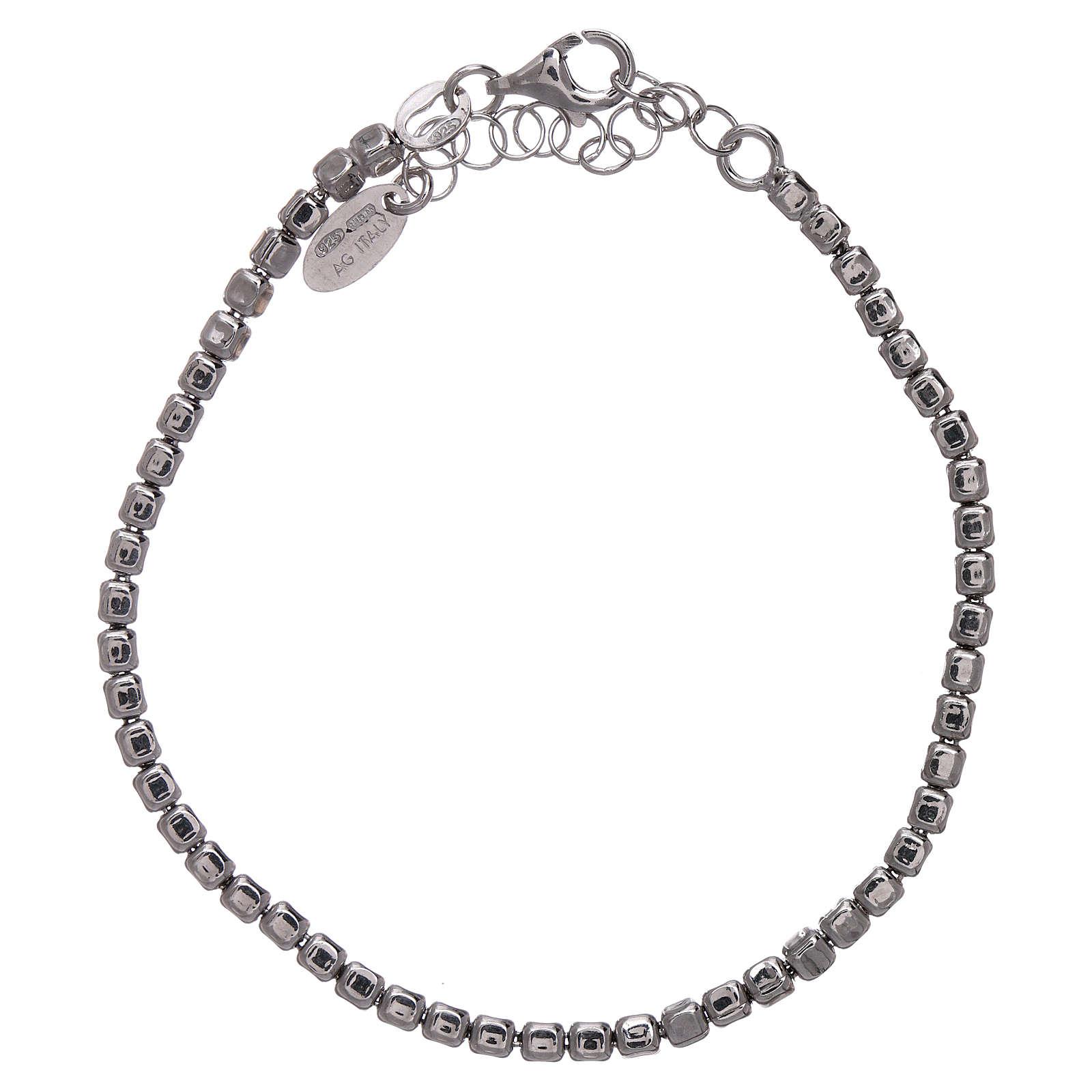 Pulseira AMEN em prata 925 radiada pepitas 4