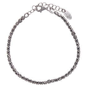 AMEN Bracelet in 925 sterling silver with rhodium nuggets s1
