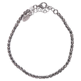 AMEN Bracelet in 925 sterling silver with rhodium nuggets s2