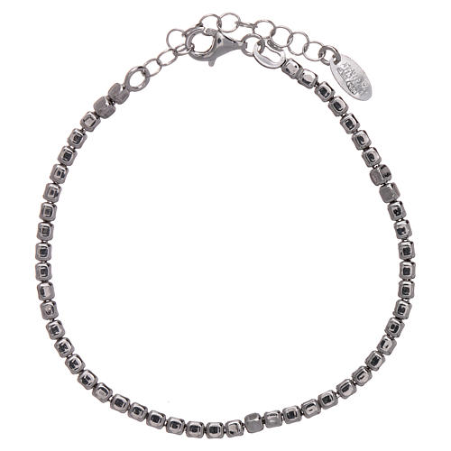AMEN Bracelet in 925 sterling silver with rhodium nuggets 1