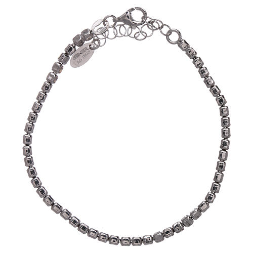 AMEN Bracelet in 925 sterling silver with rhodium nuggets 2