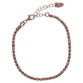 Pulseira prata 925 com pepitas rosê AMEN s1