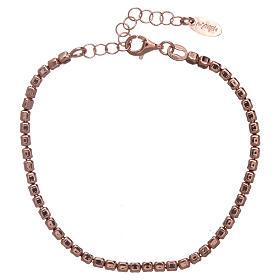 Pulseira prata 925 com pepitas rosê AMEN s2