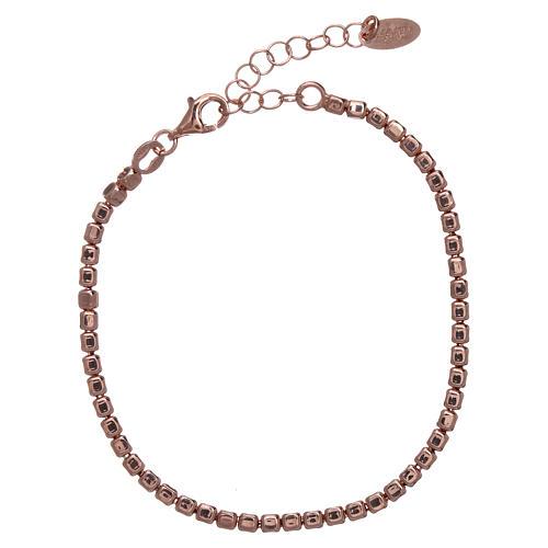 Pulseira prata 925 com pepitas rosê AMEN 1
