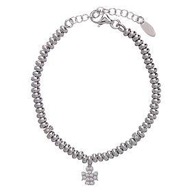 AMEN bracelets: AMEN Bracelet in 925 sterling silver with rhodium zirconate angel