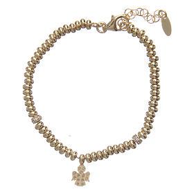 Bracciale AMEN in argento 925 oro angelo zirconato s2