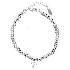 AMEN bracelets: AMEN Bracelet in 925 sterling silver with black rhodium zirconate cross