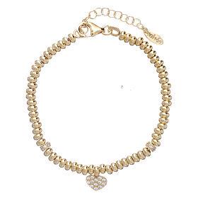 Bracciale Arg 925 oro cuore zirconato AMEN s1