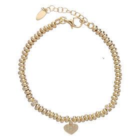Bracciale Arg 925 oro cuore zirconato AMEN s2